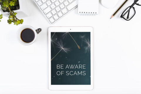 be aware of scams