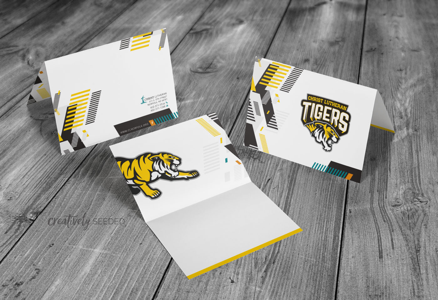 Christ Lutheran School CLS Tigers Thank You Greeting Cards Creatively Seeded