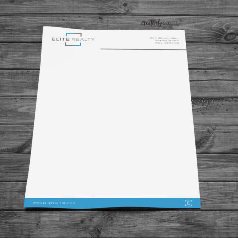 Elite Realty Letterhead Graphic Design Norfolk Nebraska Creatively Seeded