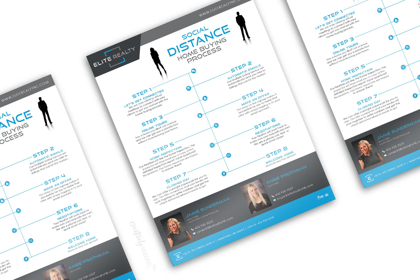 Elite Realty Social Distancing Flyer Design Creatively Seeded