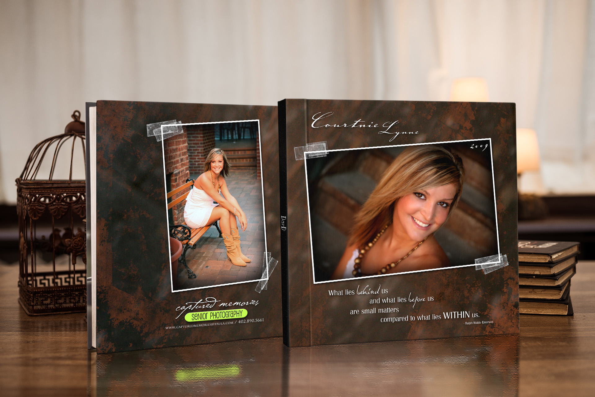 custom designed senior photo album