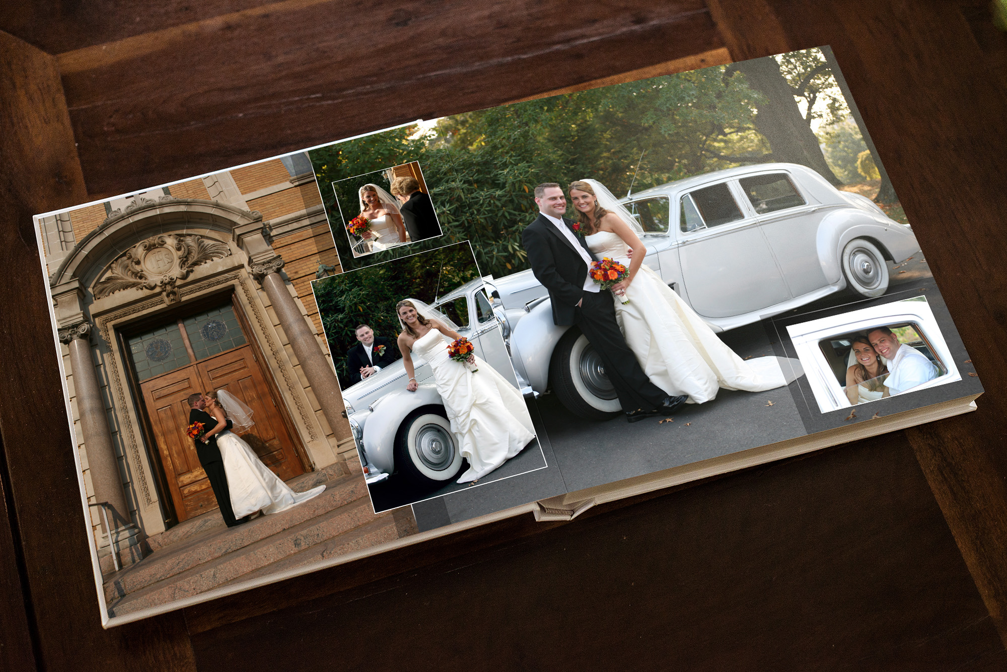 custom designed wedding album