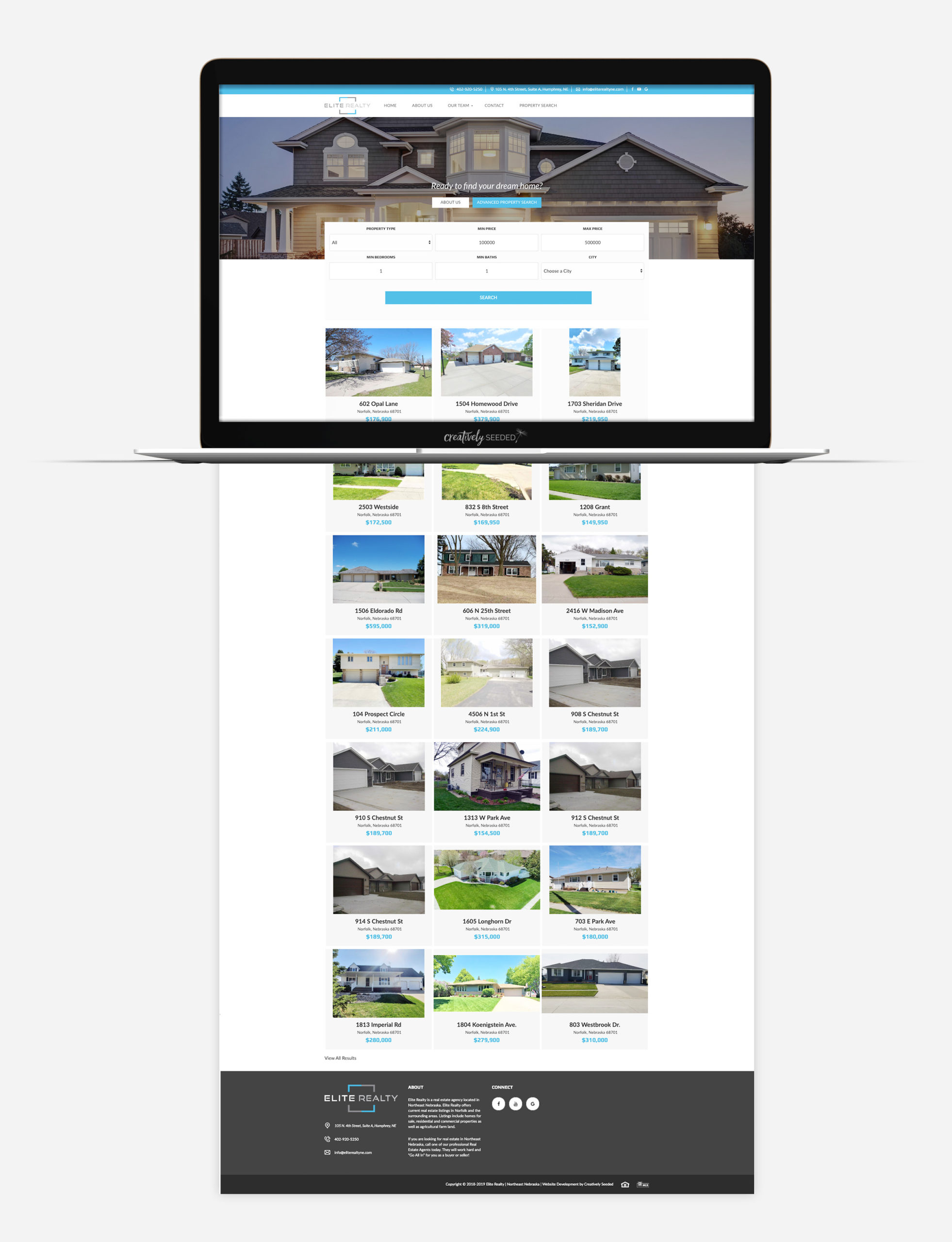 Elite Realty Humphrey Ne Realtor Website Design Creatively Seeded