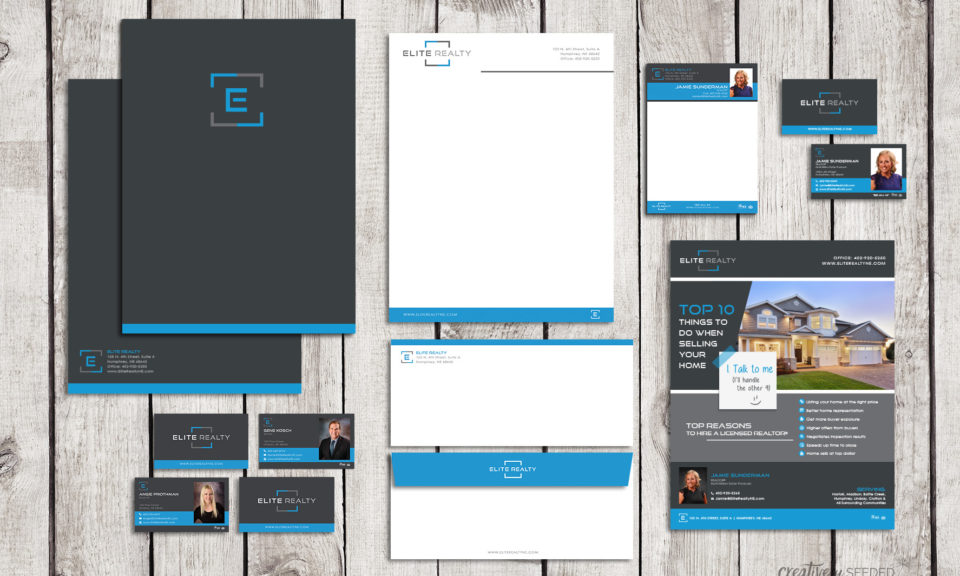 Elite Realty in Humphrey Nebraska complete brand design identity creatively seeded