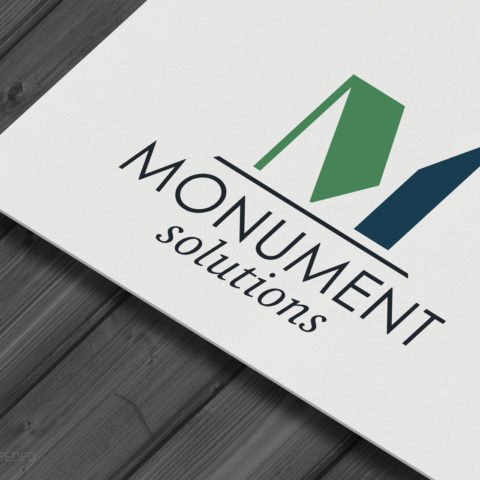 Monument Solutions Norfolk NE Logo Design Creatively Seeded