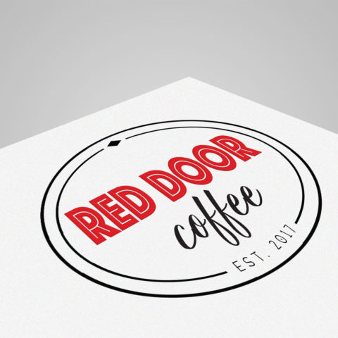 Red Door Coffee Shop West Point NE Logo Designer Creatively Seeded