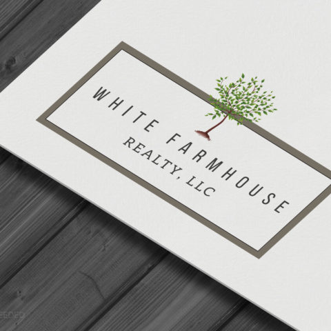White Farmhouse Realty Wayne Nebraska Logo Brand Identity Creatively Seeded