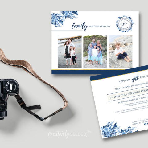 jamie collins photography family portrait postcard creatively seeded