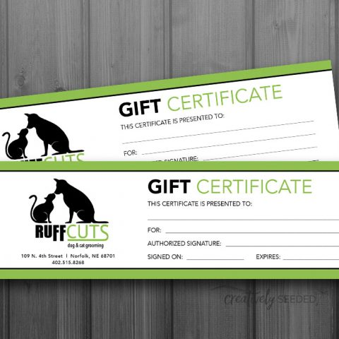 ruff cuts norfolk nebraska gift certificate design creatively seeded tracee larson
