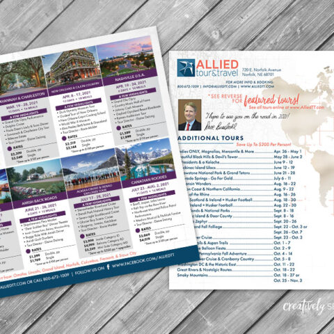Allied Tour & Travel Large Postcard Norfolk NE