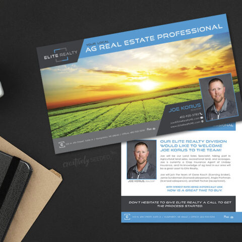 Elite Realty Every Door Direct EDDM postcard mailing print Norfolk NE